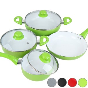 Keramik Kochtopfset bunt - Keramik Kochtoepfe und Pfannen