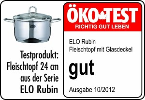 Kochtopf-Test ELO Rubin Fleischtopf 24 cm mit Glasdeckel - Testergebnis gut - Oekotest